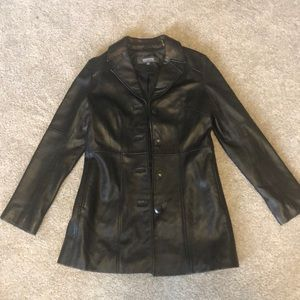 Kenneth Cole reaction women's black leather jacket
